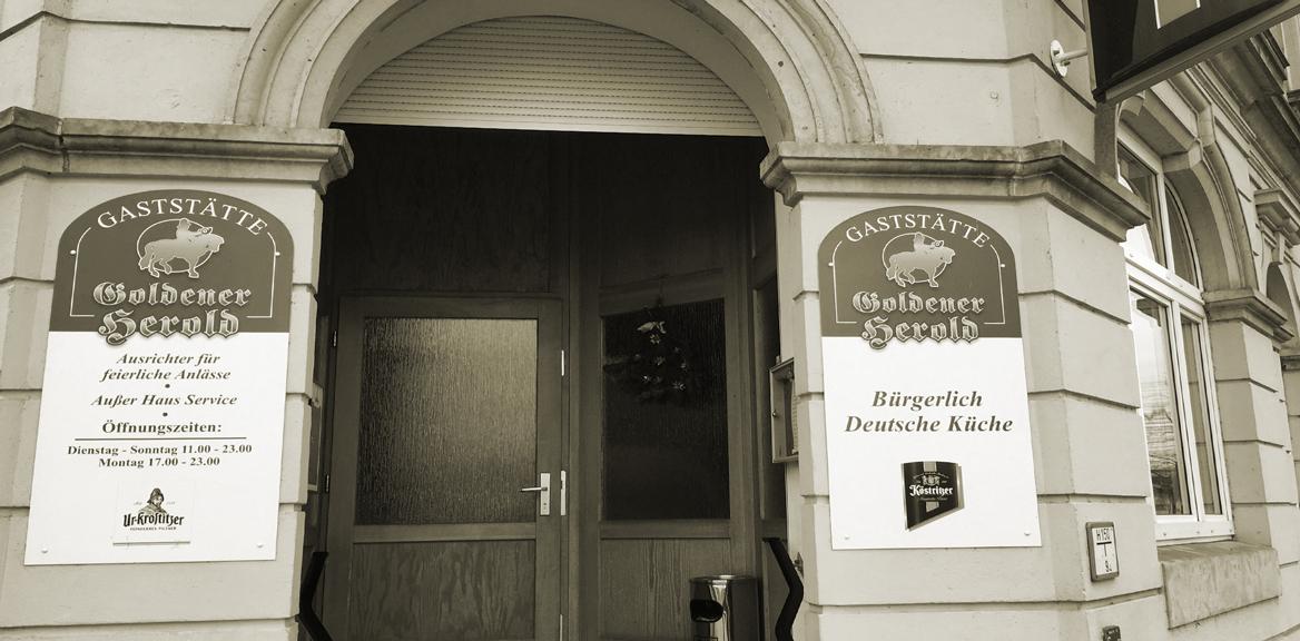Eingang Goldener Herold